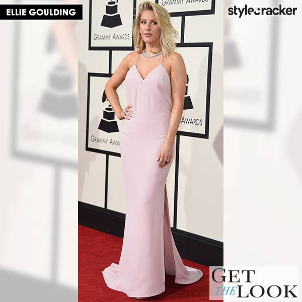 GetTheLook EllieGoulding GrammyAwards RedCarpet - StyleCracker