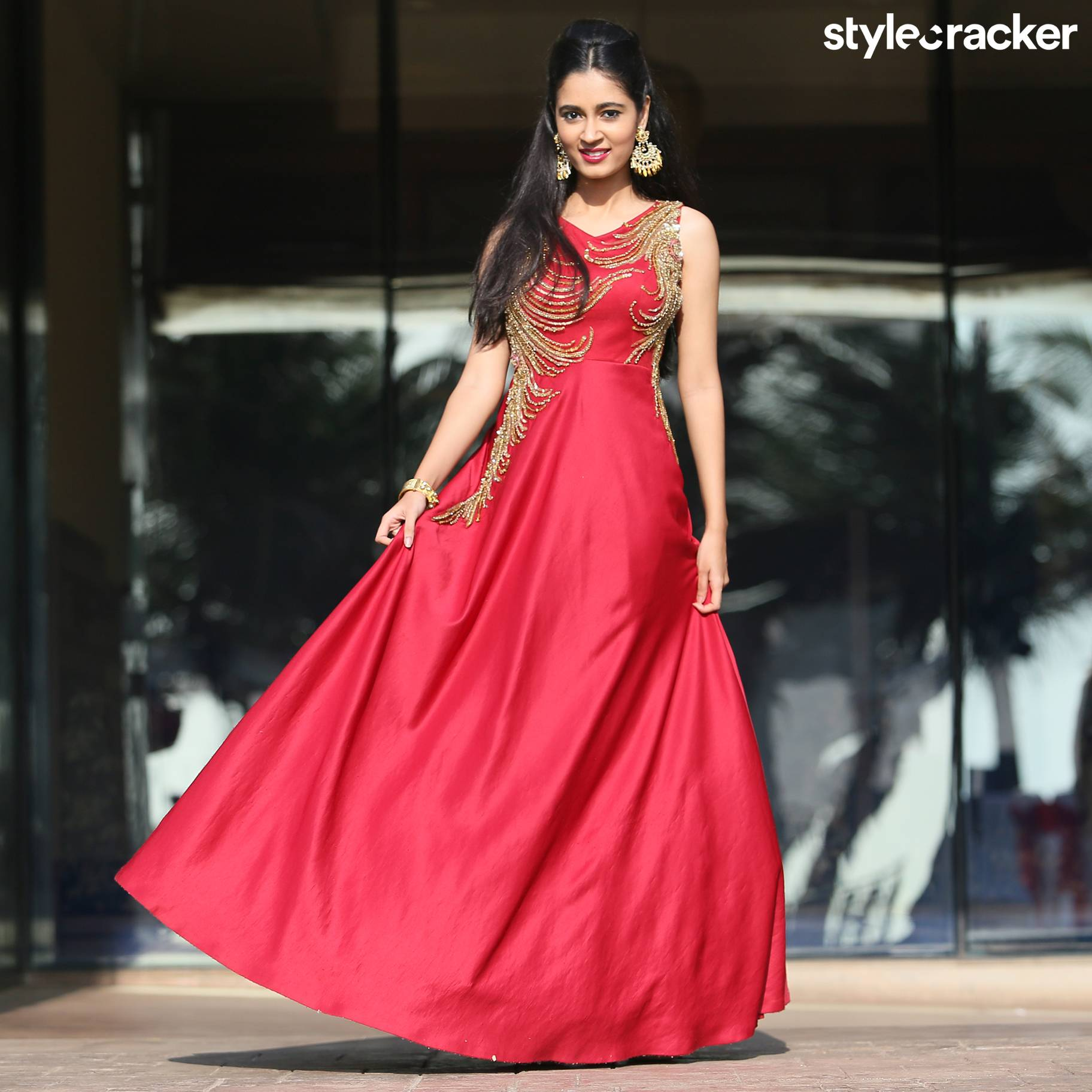 GetTheLook Anarkali Warmcolors Trend - StyleCracker