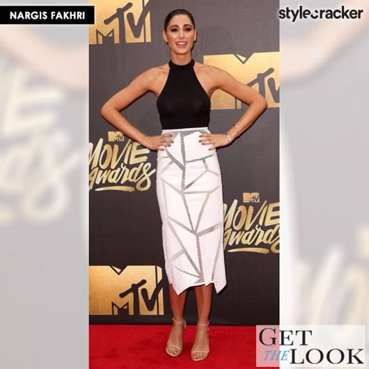 GETTHELOOK NARGISFAKHRI MTV MOVIEAWARDS REDCARPET - StyleCracker