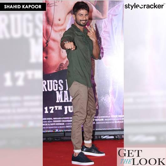 GetTheLook CelebStyle ShahidKapoor - StyleCracker